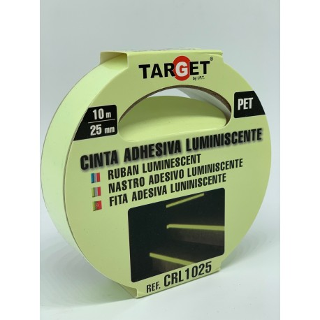 CINTA ADHESIVA LUMINISCENTE 10 MTS X 25MM