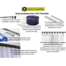 GUIA INSTALACION LAMAS DE PVC FLEXIBLE
